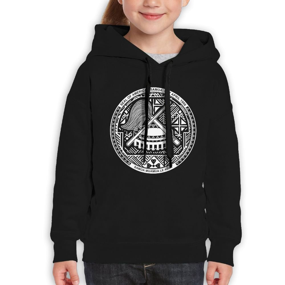 DTMN7 Seal Of American Samoa Casual Printed Crew Neck Pullover For Kids Unisex Spring Autumn Winter