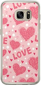 Loud Universe Samsung Galaxy S7 Edge Love Valentine Files Valentine 173 Printed Transparent Edge Case - Pink