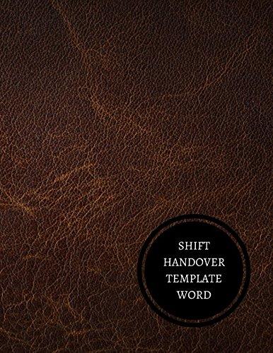 Shift Handover Template Word Log Amazonde Journals For All Fremdsprachige Bucher