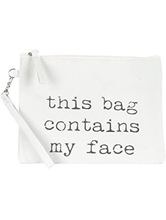 Amazon.com   Scarlettsbags Wristlet Canvas Makeup Bag White (White -Face)    Beauty a6d8c855cb