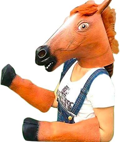 Horse Head Mask Adult Halloween Costume Fancy Dress