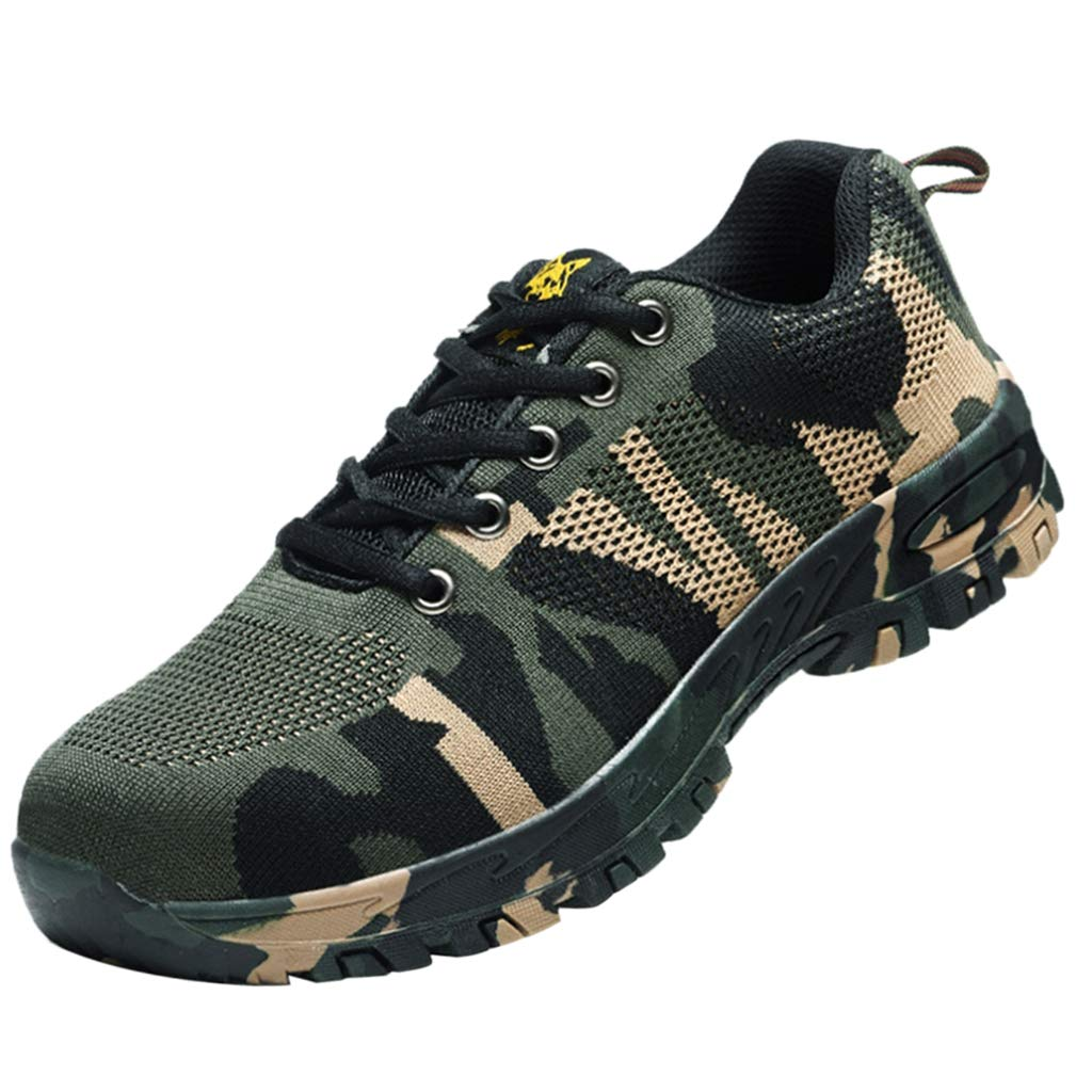 Prettyia Steel Toe Camouflage Safety Work Shoes Anti-slip, with Rubber Sole, Durable to Wear - 265mm