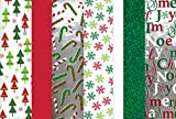 Arts & Crafts : Christmas Tissue Paper (Hologram, Printed & Solid) 100 Sheets