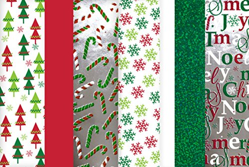 Christmas Tissue Paper (Hologram, Printed & Solid) 100 Sheets by Madison Paper