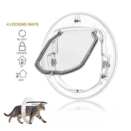 Amazon Bestom Pet Door Round Clear Flap Door With 4 Ways Lock
