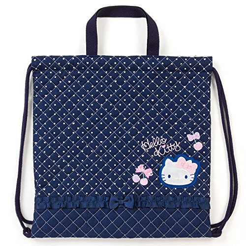 Sanrio Hello Kitty quilting hand string purse navy From Japan New