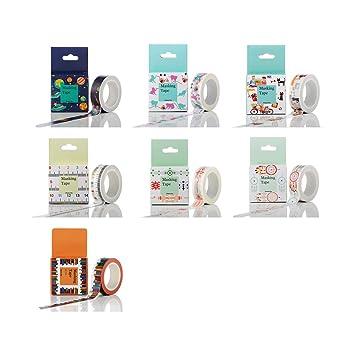 Zhi Jin - Juego de 8 rollos de cinta adhesiva para manualidades ...