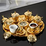 Turkish Coffee Set for Six Person with Free 100 Gr. Turkish Coffee