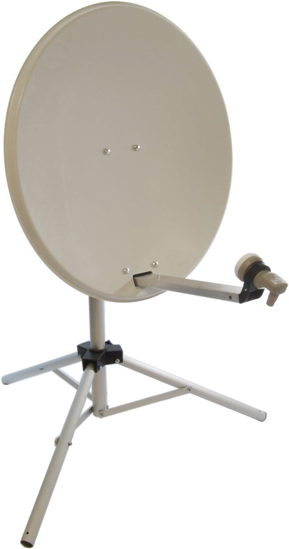 Satgear 80 cm antena parabólica portátil con trípode: Amazon ...