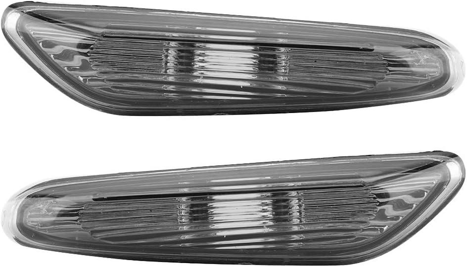 Qiilu Lot de 2 clignotants lat/éraux sans ampoule pour E90 E91 E92 E93 S/érie 3 2006-2011