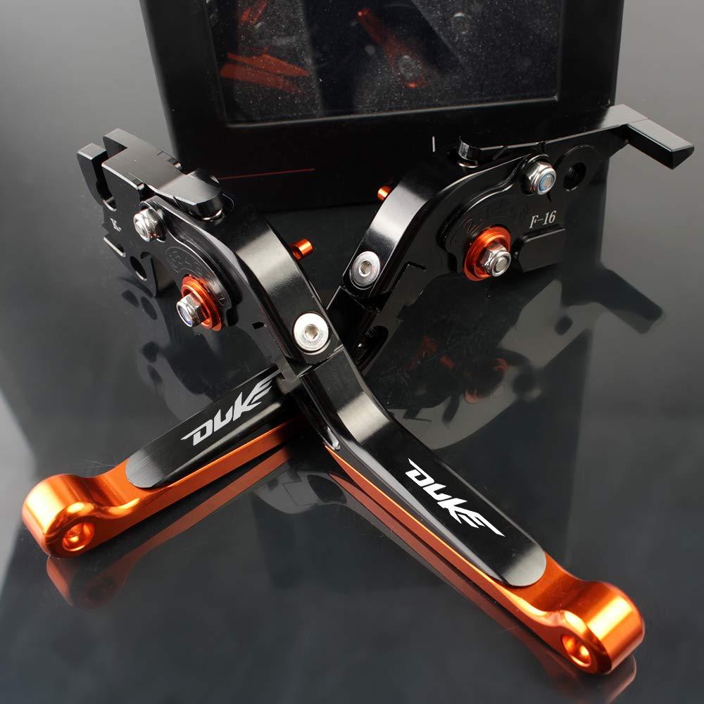 Leve Freno e Frizione in alluminio Regolabile arancione nero compatibili con K T M 390 Duke RC390 2013-2019//200 Duke RC200 2014-2016// RC 125 Duke 2014-2019