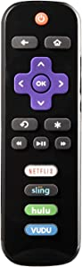 Replacement Remote Control for Roku TV, Compatible with TCL,Haier,LG,Sanyo,Element, RCA, Philips, HITACHI Roku Built-in Smart TV