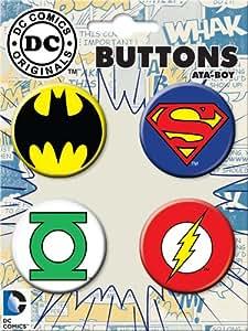 Ata-Boy DC Comics Originals Logo Assortment #3 4 Button Set