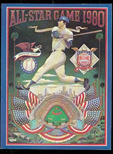 1980 Mlb All Star Game - ALL-STAR GAME PROGRAM 1980-BASEBALL MLB-DODGER STADIUM-very fine VF