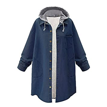 LUCA Fashion Oversize Loose Women Plus Size Cashmere Chaqueta Long Jacket Patchwork Coat Overcoat (Blue