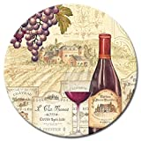 CounterArt Wine Tradition Glass Lazy Susan Serving Plate, 13''