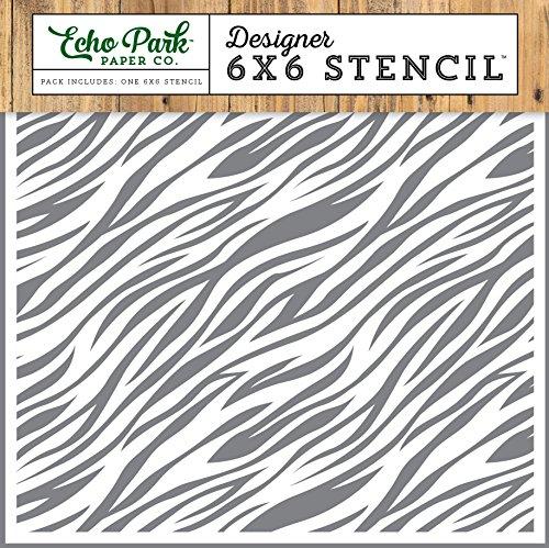 Echo Park Paper Company Zebra Jungle Safari Stencil ()