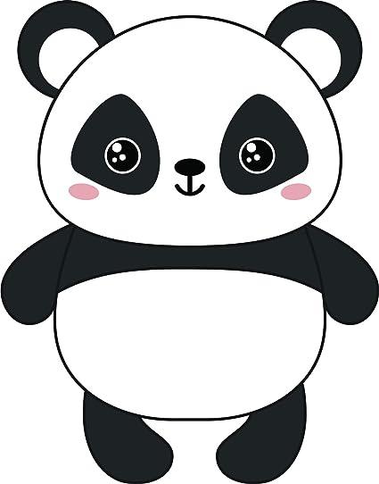 Kawaii Baby Panda Bear Cute Cuddly Animal Cartoon Vinyl Sticker 8 Tall Happy Amazon In Car Motorbike