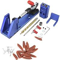 XK-2 Premium Pocket Hole Jig System Kit met kantelklem en trapboor, 9,5 mm aandrijfadapter voor hoekboorgaten voor…