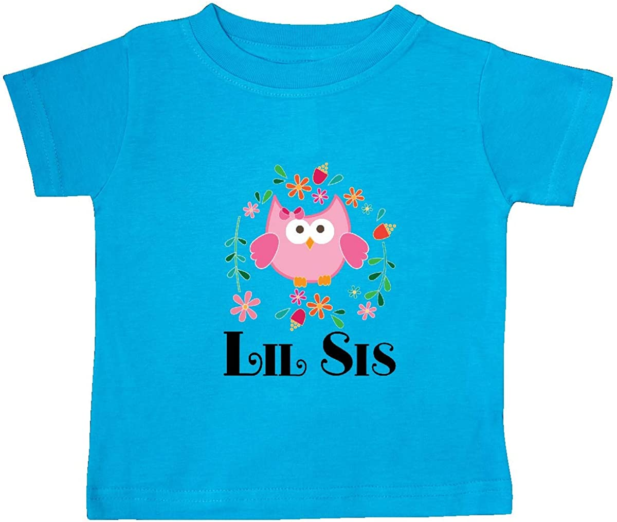 inktastic Lil Sis Girls Owl Sister Announcement Baby T-Shirt