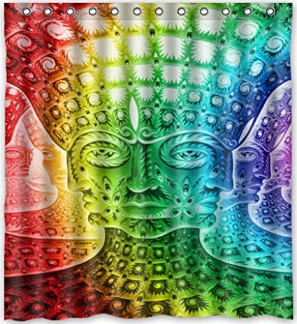 Popular Design Trippy Psychedelic Shower Curtain 66quotw X 72quoth