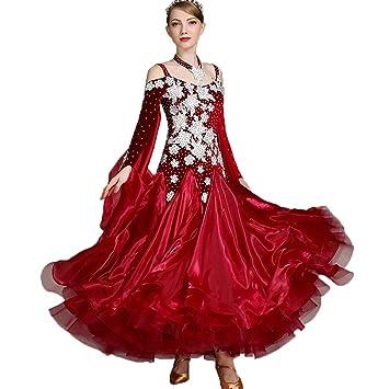 Wangmei Disfraz de Baile Moderno para Mujer Vestidos de ...