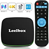 Android TV Box, Leelbox Q1 Android 7.1 TV Box with BT 4.0 Supporting 4K (60Hz) Full HD/H.265/WiFi 2.4GHz [2018 Version]
