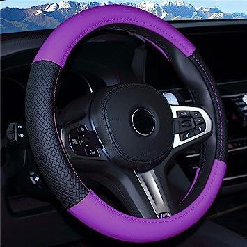 ISTN 2018 New Car Steering Wheel Cover Comfort Durability Safety Case 14.5-15, Orange