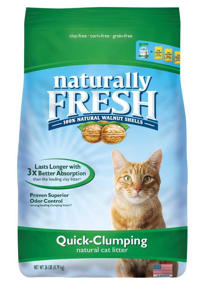 3.Naturally Fresh Walnut-Based Quick-Clumping Cat Litter