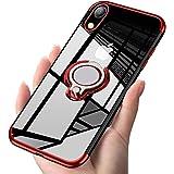ATUSIDUN(アトストン)iPhone ケース リング 滑り防止 耐衝撃 iPhone XR 赤