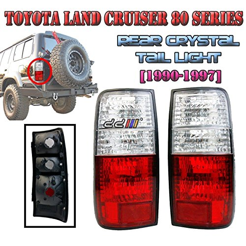 Crystal Body Tail Lamp Light Taillight 1 pair For Land Cruiser FJ80 HZJ80 GLX Lexus (Drag Tail Lights)