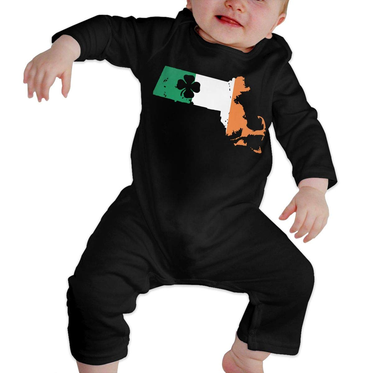 Patricks Day Massachusetts Irish Flag Newborn Baby Girl Infant Sleep and Play Bodysuit Jumpsuit Outfits LBJQ8 St