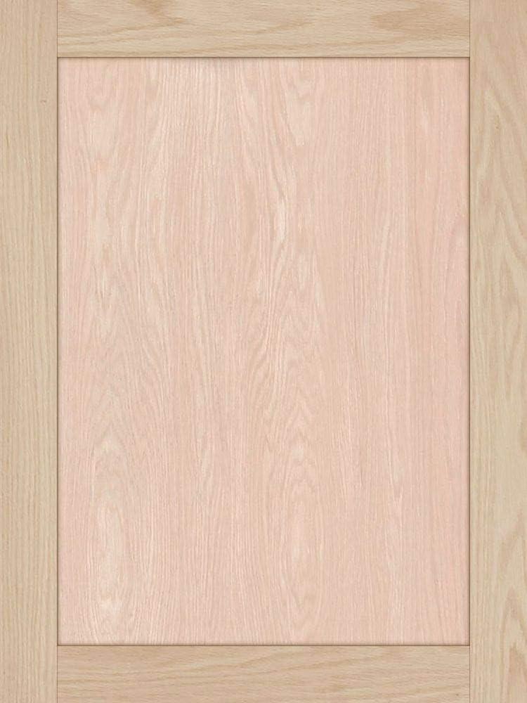 28H x 21W Unfinished Oak Shaker Cabinet Door by Kendor
