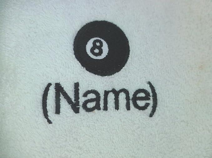 Snooker et personnalisé nom brodé sur serviette à Capuche Serviette peignoir