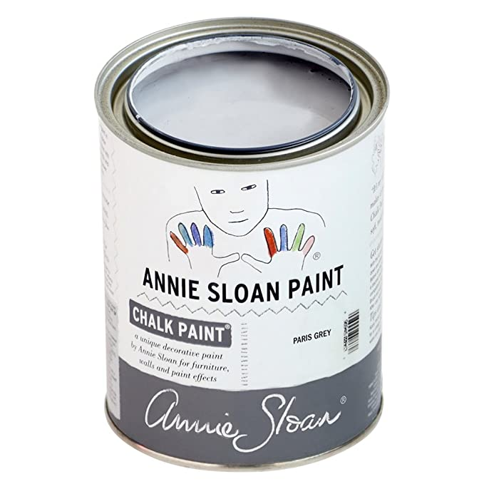 CHALK PAINT (R) by Annie Sloan - Paris Grey (Quart - 32oz) – Decorative paint for furniture, cabinets, floors, home decor and accessories – Water-based – Non-toxic – Matte finish