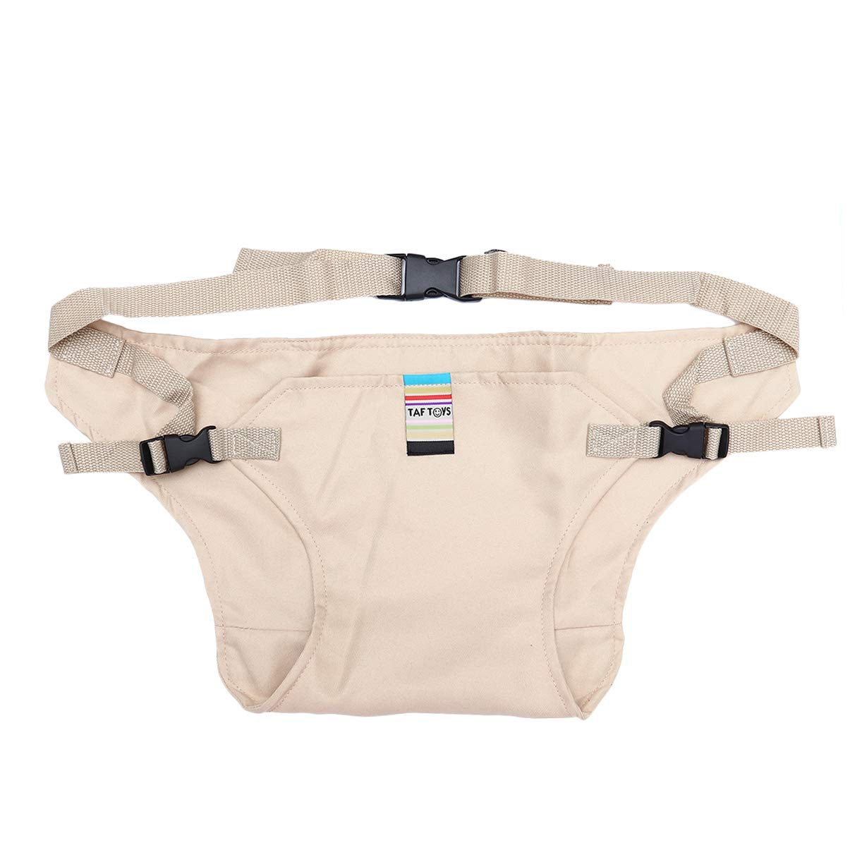 Healifty Portable Seat Belt Baby Toddle High Chair Safety Seat Booster Strap-Khaki by Healifty