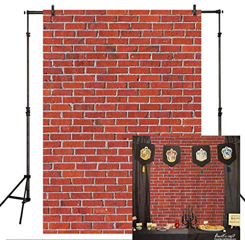 Brick Wall Scene Setter - Allenjoy Red Brick Wall Backdrop Back