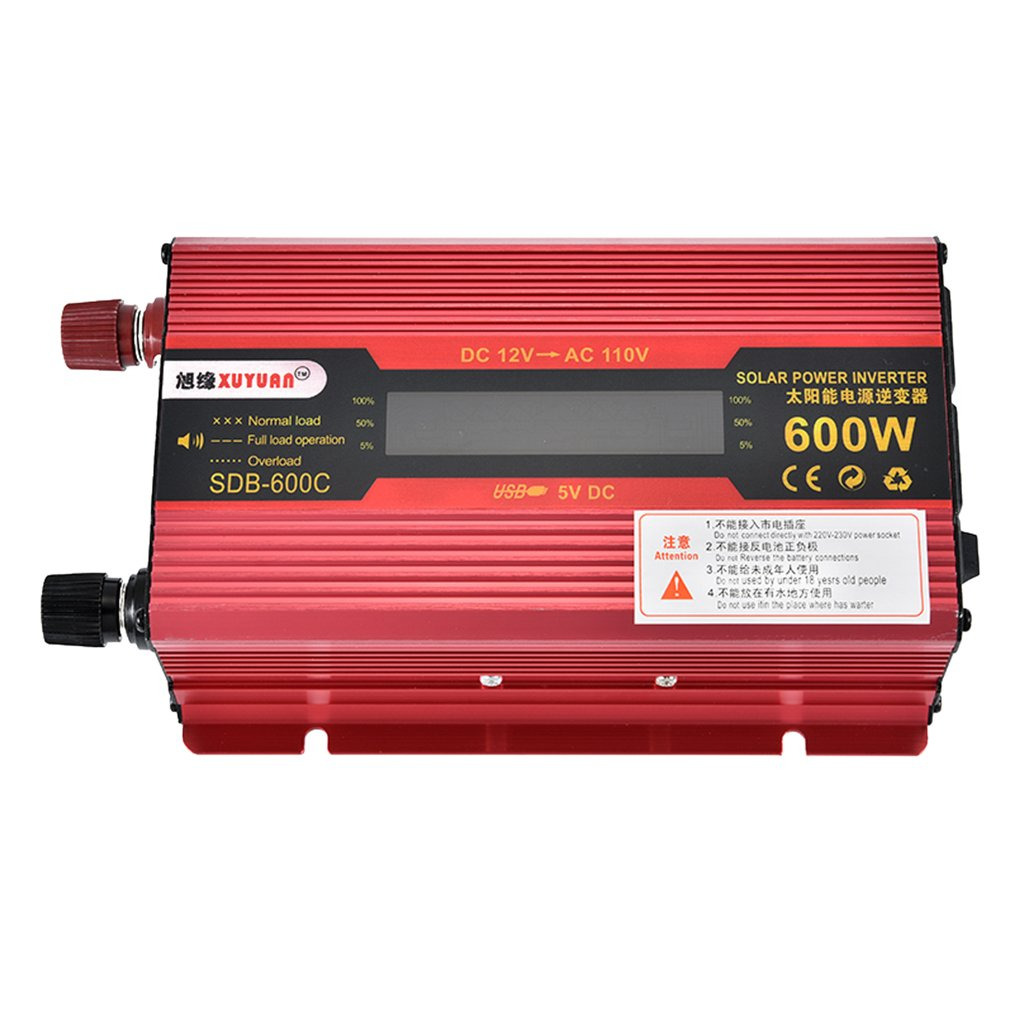 Homyl US 600W Car LCD Power Inverters DC 12V to AC 110V Modified Sine Wave Converters