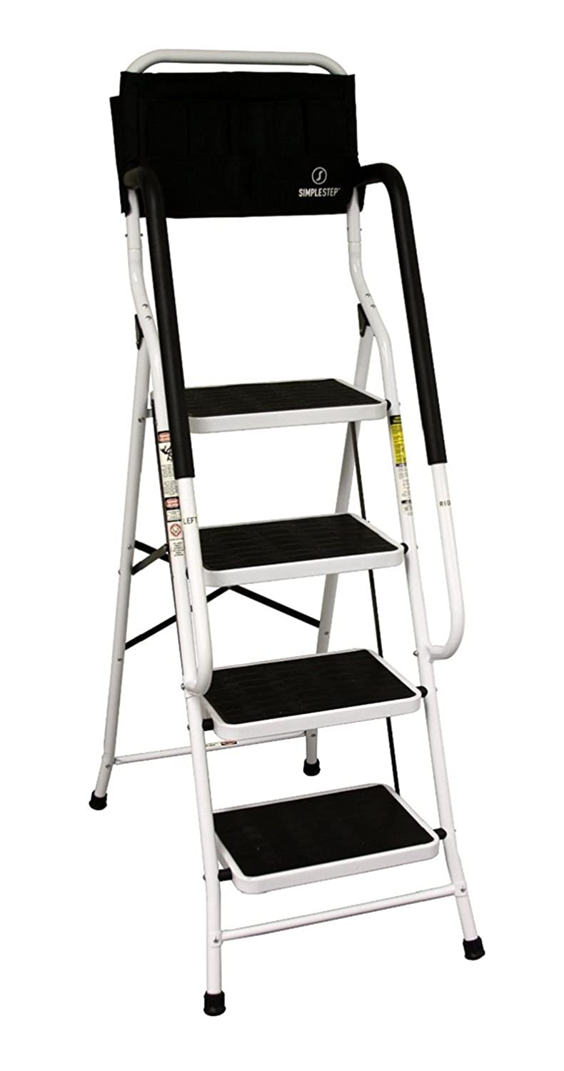 Allstar Innovations Simple Step 2 in 1 Step Stool and Ladder with Safety Rails and Bonus Ladder Caddy - - Amazon.com  sc 1 st  Amazon.com & Allstar Innovations Simple Step 2 in 1 Step Stool and Ladder with ... islam-shia.org