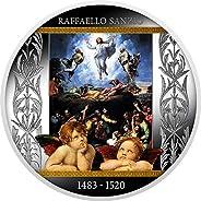 2020 CM Klimt Golden Five PowerCoin TRANSFIGURATION OF JESUS Raffaello Sanzio Silver Coin 500 Francs Cameroon