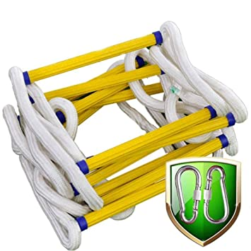 FUYY Escalera De Cuerda, Escalera De Escape En Caso De Incendio Escalera De Nylon Suave Al Aire Libre Escalera De Escalada para El Hogar Escalera De Ingeniería,15M: Amazon.es: Deportes y aire libre