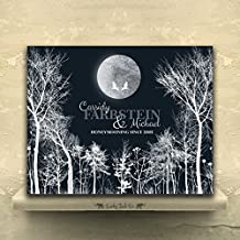 9.5 X 12 Metal Print Personalized 10 Year Anniversary Gift of Tin Aluminum Honeymoon Winter Trees For Couple Ten Year Wedding Anniversary From Husband or Wife Custom Art Print 10th Tin Aluminum