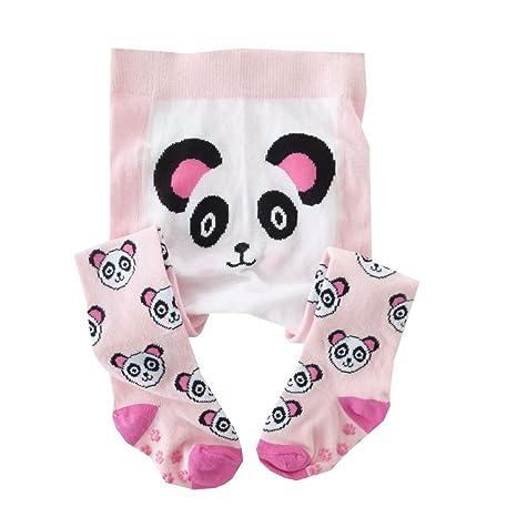 NUEVO   niña Pantys Color Rosa Panda antideslizante ...