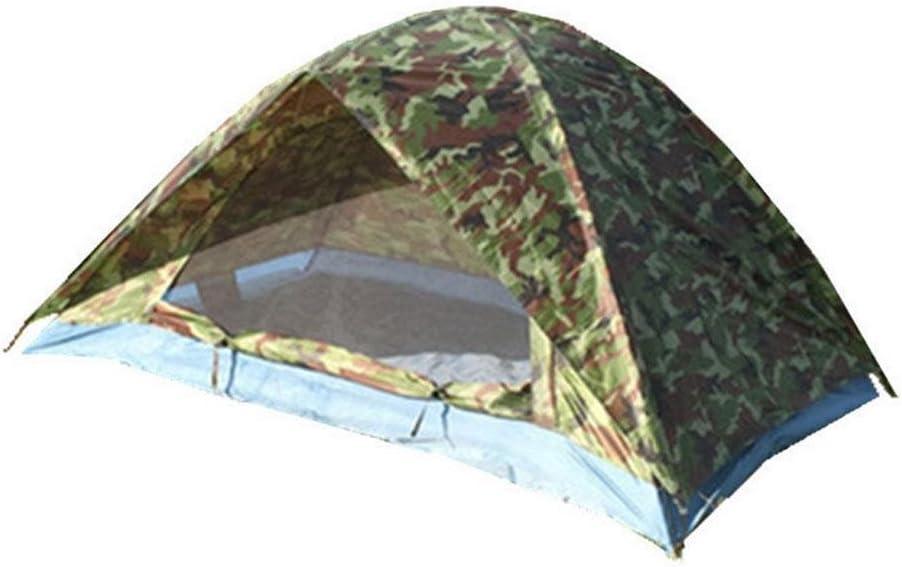 ysayc al aire libre Camping suministros verde militar camuflaje doble puerta doble tienda de campaña tienda de campaña: Amazon.es: Deportes y aire libre