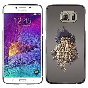 PC/Aluminum Funda Carcasa protectora para Samsung Galaxy S6 SM-G920 Pirate Octopus Monster / JUSTGO PHONE PROTECTOR