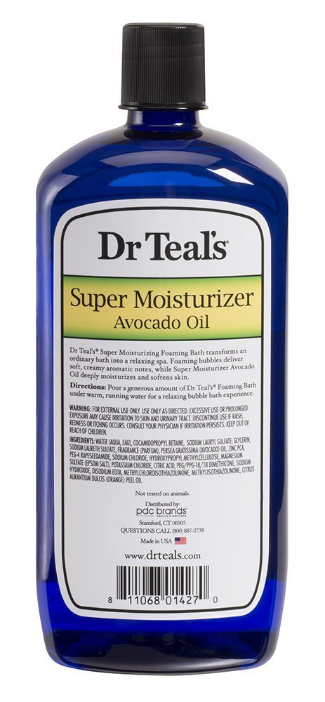 Amazon.com : Dr. Teals Ultra Moisturizing Foaming Bath with Avocado Oil, 34 FL OZ (2 Pack-68 FL OZ) : Beauty