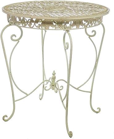 Gartentisch Tisch Eisen Stil Antik Gartenmöbel Garten Eisentisch Rund Im Weinrot