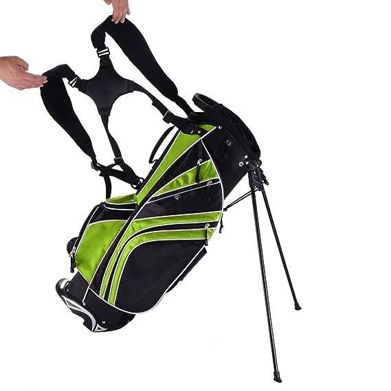 23a3d13d62b1 Amazon.com : COLIBROX--Golf Stand Cart Bag Club w/6 Way Divider ...