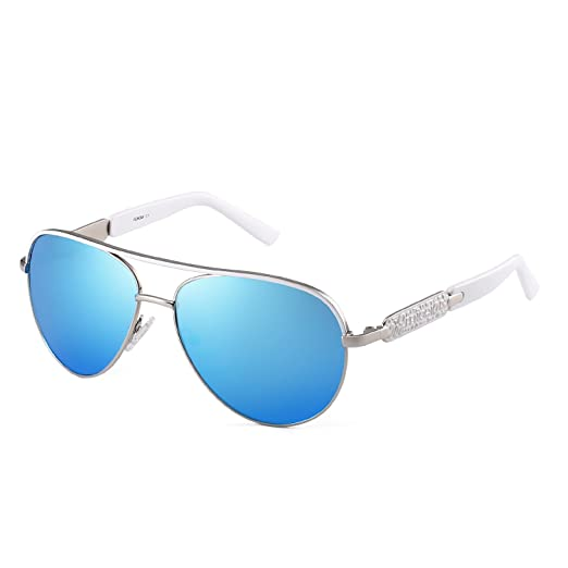 Amazon Com Classic Aviator Small Face Sunglasses For Women Metal
