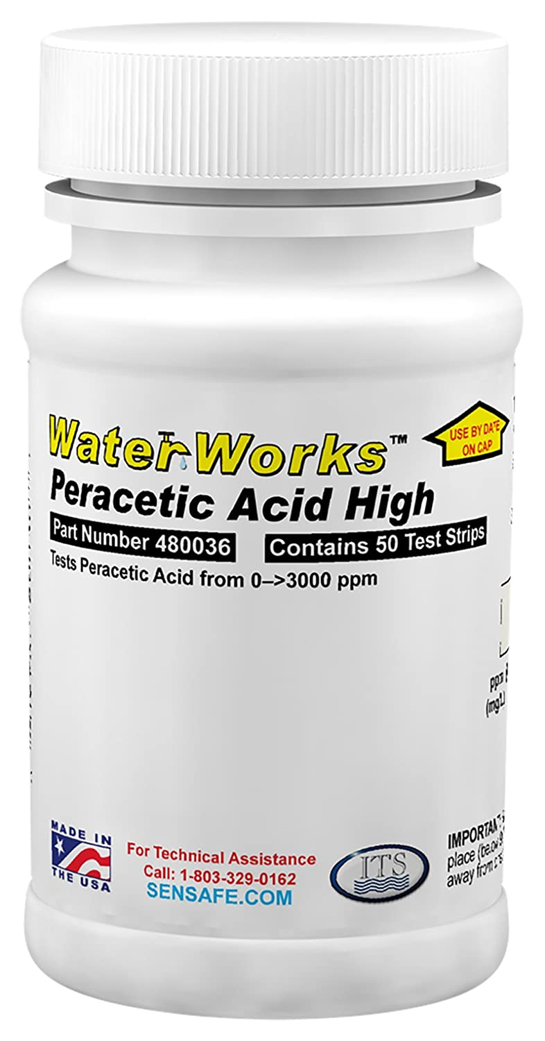 Industrial Test Systems 480036 WaterWorks Peracetic Acid High Water Test Strips